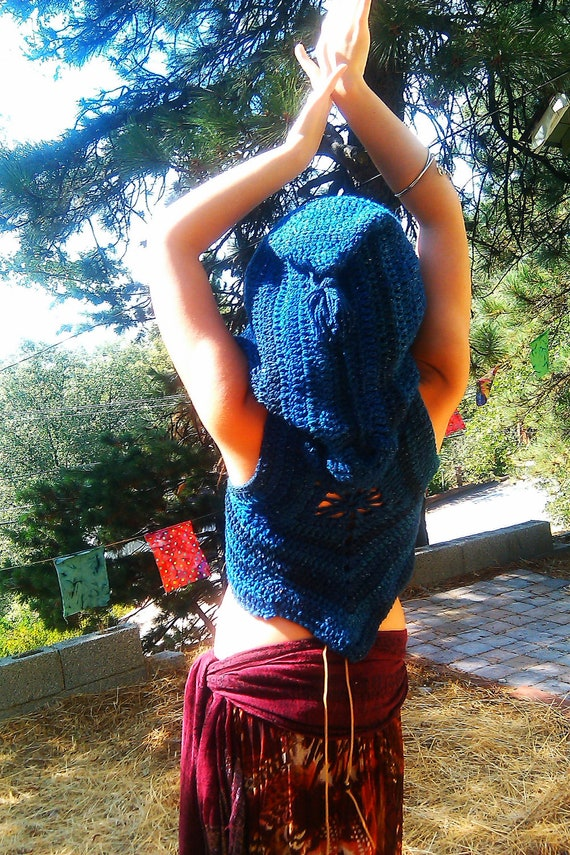 Free Shipping-Blue Moonlight Pixie Vest Ready To Ship In Size Small Medium