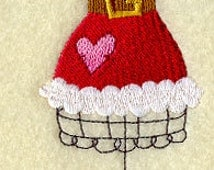 Mrs Claus Dress Form Embroidered Flour Sack Hand/Dish Towel