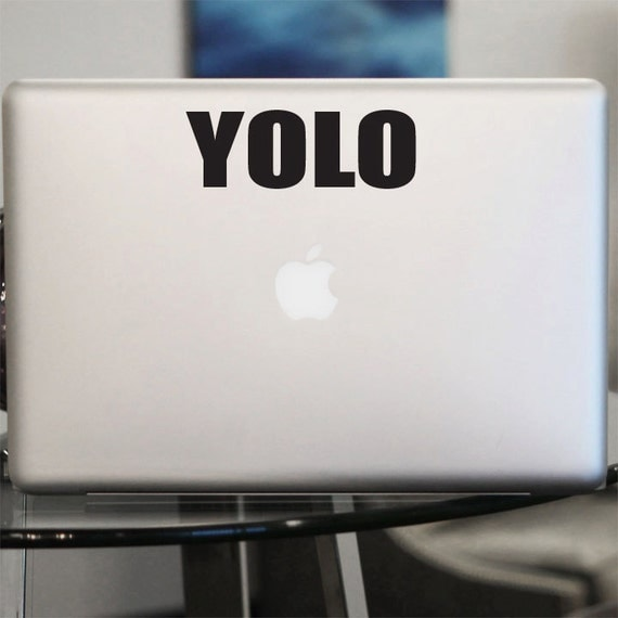 YOLO Decal - Vinyl Sticker - For Car Window, Laptop, BLACK or WHITE