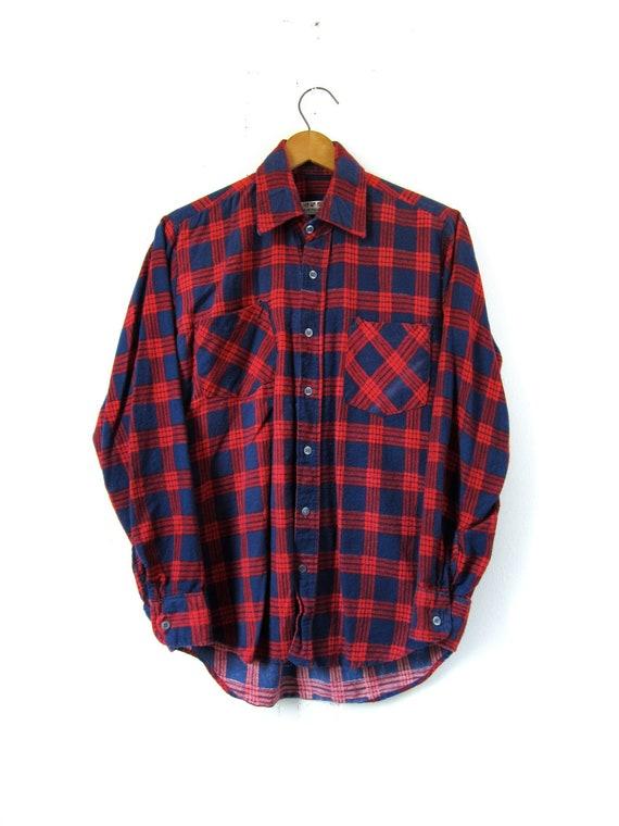 90s Grunge Flannel Shirt Red - Mens Small / Womens Medium