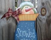Handpainted Christmas ornament wall or door hanger