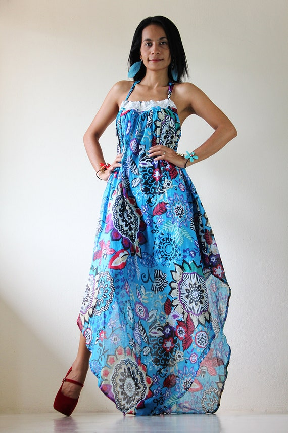 Maxi dress - Floral Summer Long Dress  : Happy Summer Time Collection