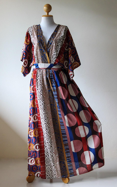 Kimono Dress Women Kaftan Long Maxi Dress  Boho Kimono