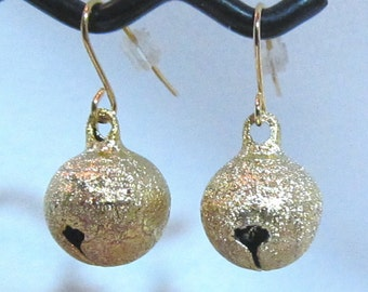 CLEARANCE     Frosted Bell Earrings