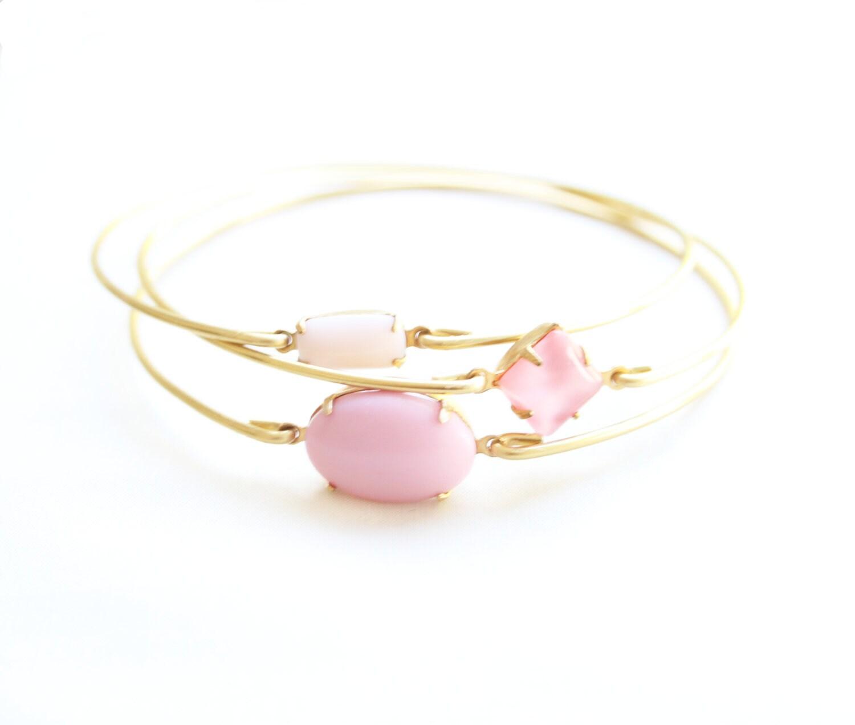 Pretty Pinks Bangle Set