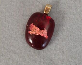 Little copper cat necklace