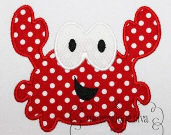 Summer Big Eye Crab Embroidery Design Machine Applique