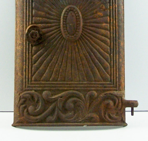 Antique Cast Iron Wood Burning Parlor Stove Door By Esther2u2