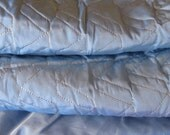 Vintage Bedspread, Blue Iridescent with Gold Thread, Never Used