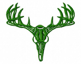 Deer Skull - Machine Embroidery - 9 sizes