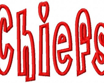 CHIEFS - Applique - Machine Embroidery Design - 7 Sizes