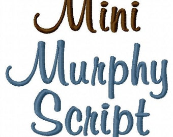 Mini Murphy Script - .5in. (half inch) - Machine Embroidery Font - BUY 2 get 1 FREE - Mini Fonts