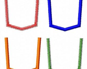 T-Shirt Pocket - Applique - Machine Embroidery Design - 10 Sizes - 2 Styles