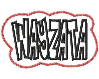 WAYZATA - Double Applique - Zig Zag and Satin Outline - 12 sizes - Machine Embroidery Design