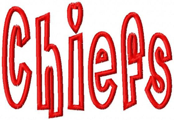 CHIEFS - Applique - Machine Embroidery Design - 7 Sizes