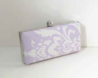 Chic Lavender Clamshell Clutch Purse