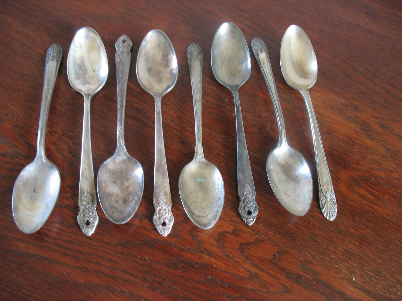 Vintage Flatware Silver Plate Mismatched by EmmaBeansandMore