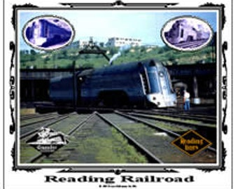 RAILROAD TIN SIGN - Reading Railroad