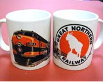 RAILROAD COFFEE MUG  - Great Northern Railroad