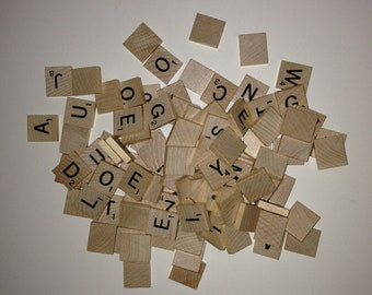 Complete Set of Scrabble Tiles-100 Tiles