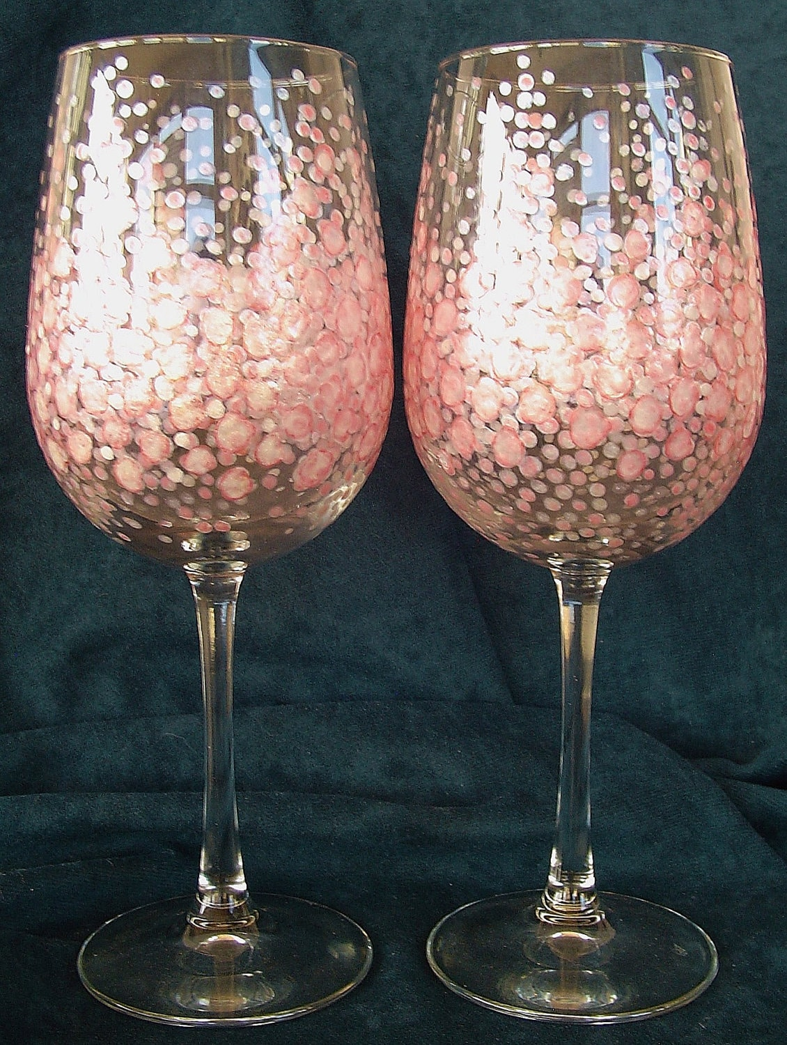 Hand painted wine glasses artistic design by owenfinearts Images of painted wine glasses