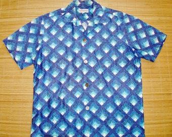 Mens Vintage 50s Atomic Mod Duke Kahanamoku Kahala Hawaiian Rockabilly Surf Shirt - M - The Hana Shirt Co