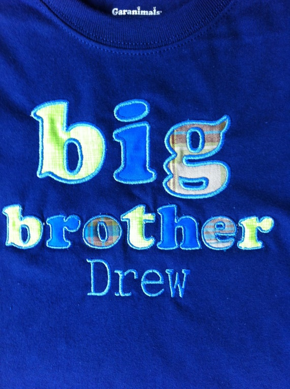 Personalized Big Brother -Big Bro - Sibing Shirt - Long or Short Sleeve - Embroidered