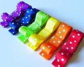 TUXEDO - Tuxedo Hair Clips - Fancy Tuxedo Clips - Tuxedo Hair Clippie - Red Orange Yellow Green Blue Purple RAinbow (Set of 6)