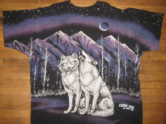 1991 wicked sweet bad ass wolf shirt, XL