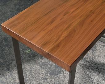 Walnut and steel desk