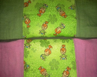 pebbles hand dyed diaper style burp cloths (2)