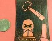 Pink Pincher Robot Magnet Dangling Fury