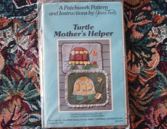 Vintage Yours Truly Applique Pattern Product 3713 TURTLE MOTHERS HELPER.