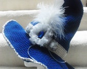 Midnight Blue & Silver Witch Hat