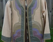 Vintage 80s G.Girvin Seattle Jacket/Coat, Reversible, Textile Art