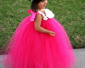 Flower girl dress. Hot Pink TuTu Dress. baby tutu dress, toddler tutu dress, wedding, birthday.  Hat is not included and not for sale.