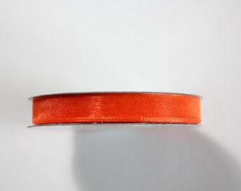 "3/8"" Organza Ribbon - Orange - 25 or 50 yard spool"