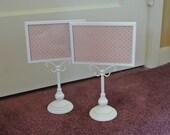 White and peach frame