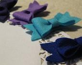 3 Felt Bows - Pick YOUR Colors