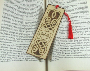 Celtic Mom Bookmark - Wood Pyrography - Wood Bookmark