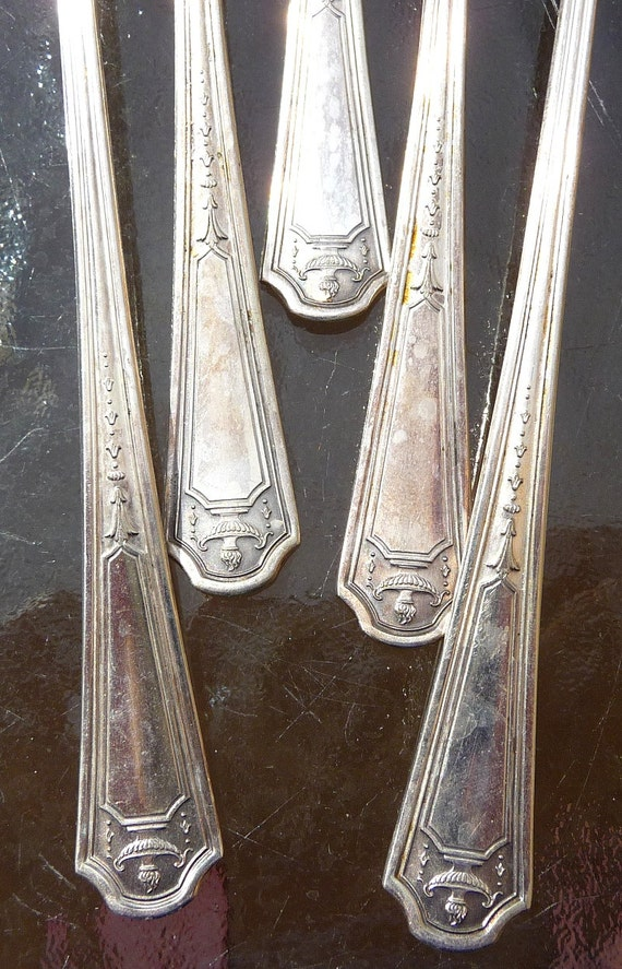 Five Niagara Silver Plate Ice Tea Spoons