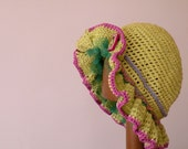 Hand Knit Laura's Hat at the Little House on the Prairie