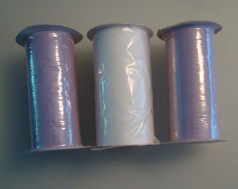 2 Spools of Wisteria Tulle and 1 White Chevron Tulle
