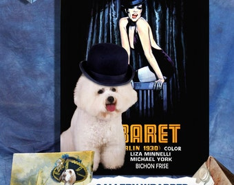 Bichon Frise Print Fine Art Canvas - Cabaret Movie Poster NEW COLLECTION by Nobility Dogs