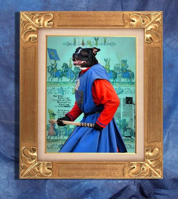 Staffordshire Bull Terrier Art Print 11 x 14 inch original illustration artwork giclee archival premium poster print By Nobility Dogs