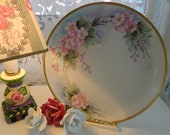 TREASURY ITEM   Soft and Romantic Hand Painted  Plate