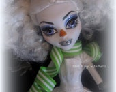 RESERVED Monster High OOAK - Fluffina the Snow Man
