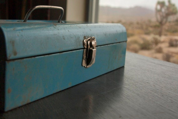 Vintage Industrial Metal Tool Box by Bernz-O-Matic