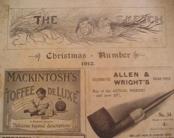 1912 The Sketch Magazine Altered Art Ephemera