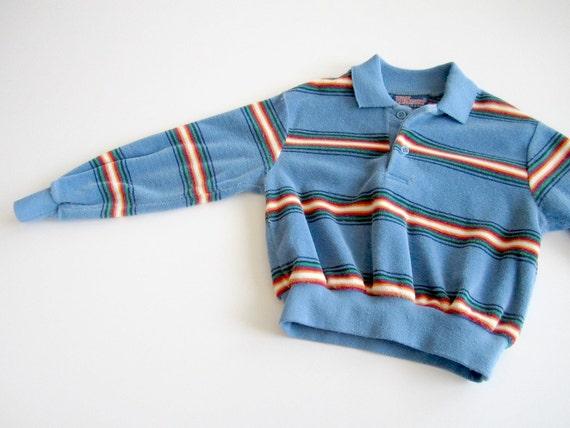 vintage velour boys shirt 3T 4T